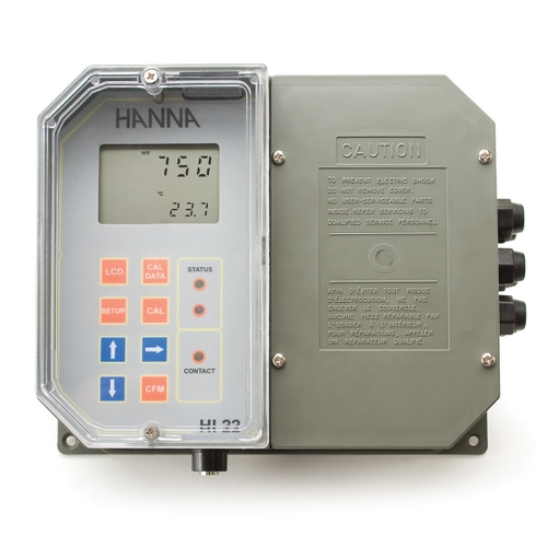 Wall Mounted ORP Digital Controller with Single Setpoint and Matching Pin HI22111-2