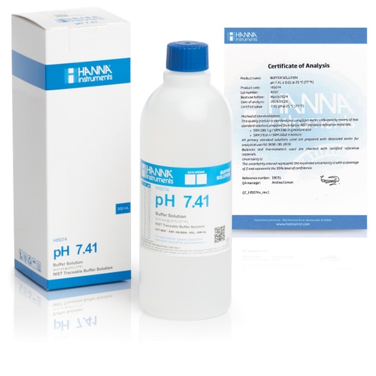 HI5074 pH 7.41 Technical Calibration Buffer (500 mL)