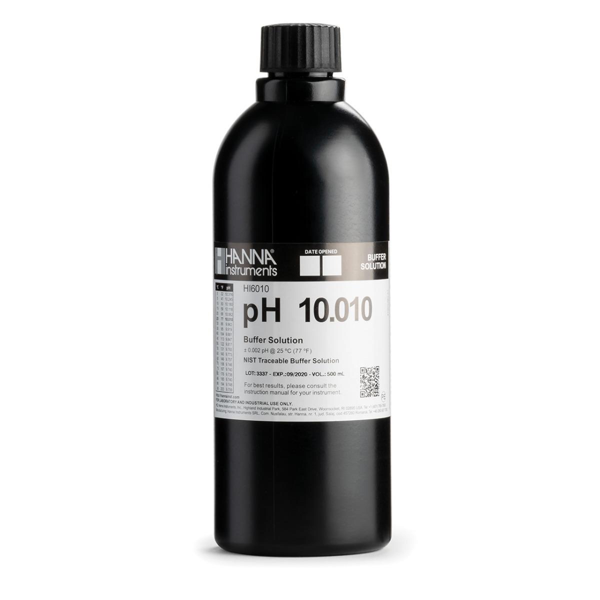 HI6010 pH 10.010 Millesimal Calibration Buffer (500 mL)