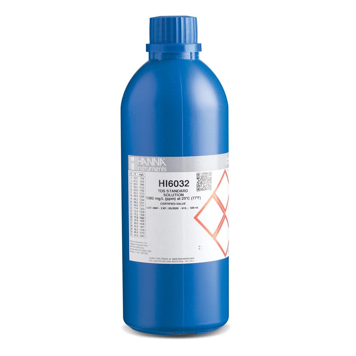 HI6032 1382 ppm (mg/L) TDS Calibration Standard (500mL)