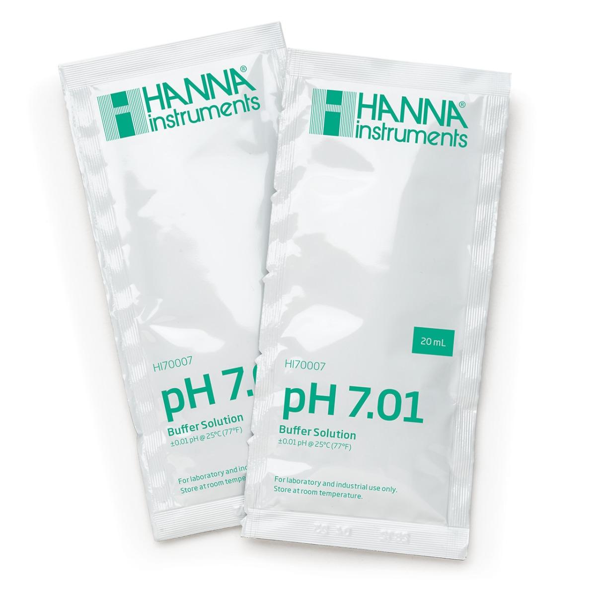 HI70007C pH 7.01 Calibration Buffer (25 x 20 mL) Sachets