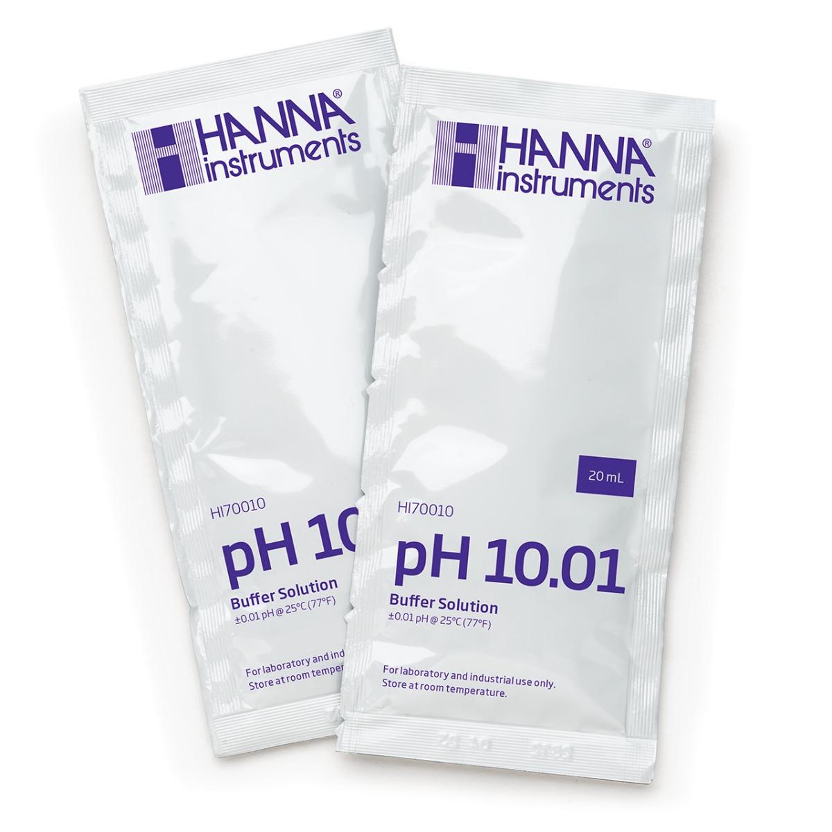 HI70010C pH 10.01 Calibration Buffer (25 x 20 mL) Sachets