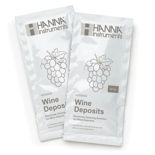 HI700635P Cleaning Solution for Wine Deposits (25 x 20 mL Sachets)