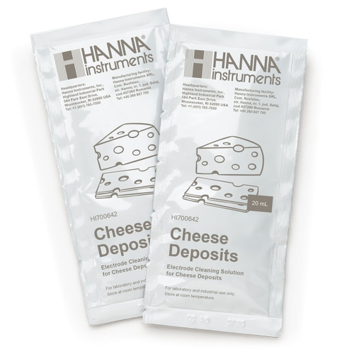 HI700642P Cleaning Solution for Cheese Deposits (25 x 20 mL Sachets)