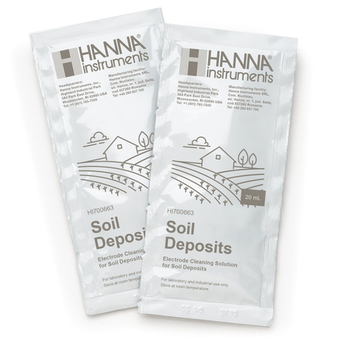 HI700663P Cleaning Solution for Soil Deposits (25 x 20 mL Sachets)
