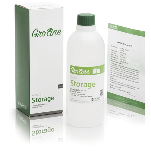 HI70300-050 GroLine Electrode Storage Solution (500 mL)