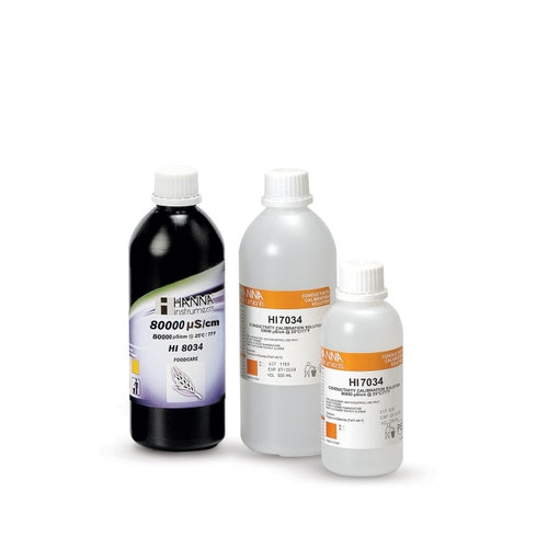 HI8034L 80000 µS/cm Conductivity Standard in FDA Bottle (500mL FDA)