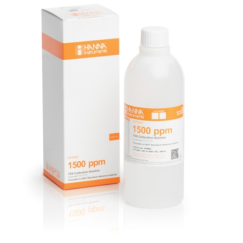 HI70442L 1500 mg/L (ppm) TDS Calibration Solution (500 mL Bottle)