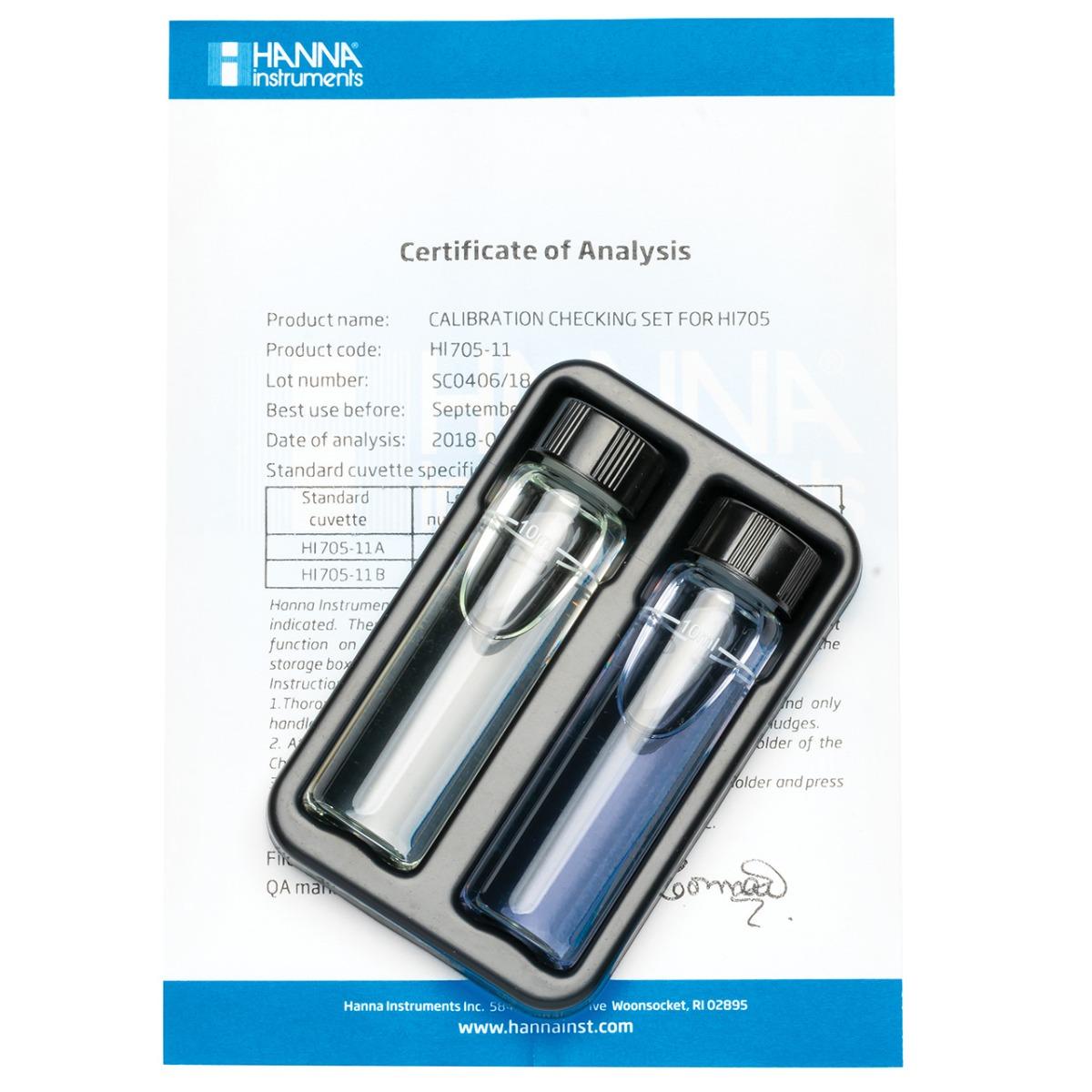 HI705-11 Silica Low Range Checker® HC Calibration Set