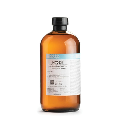 HI70631L Grease and Fats Alkaline Cleaning Solution (500 mL)