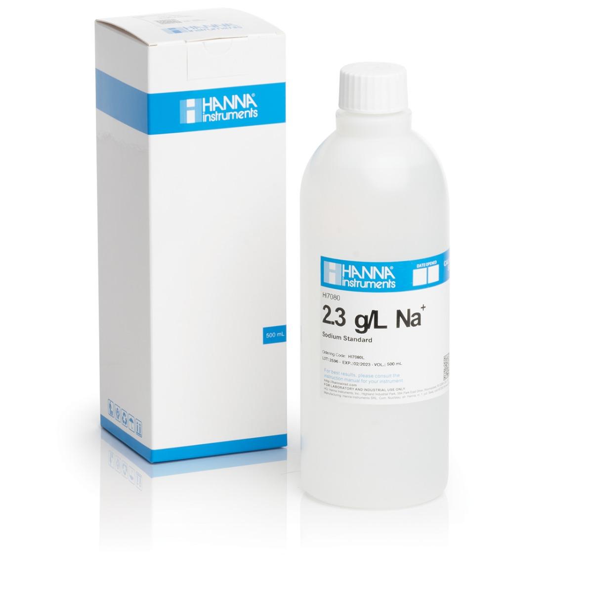 2.3 g/L Sodium Standard Solution, 500 mL - HI7080L