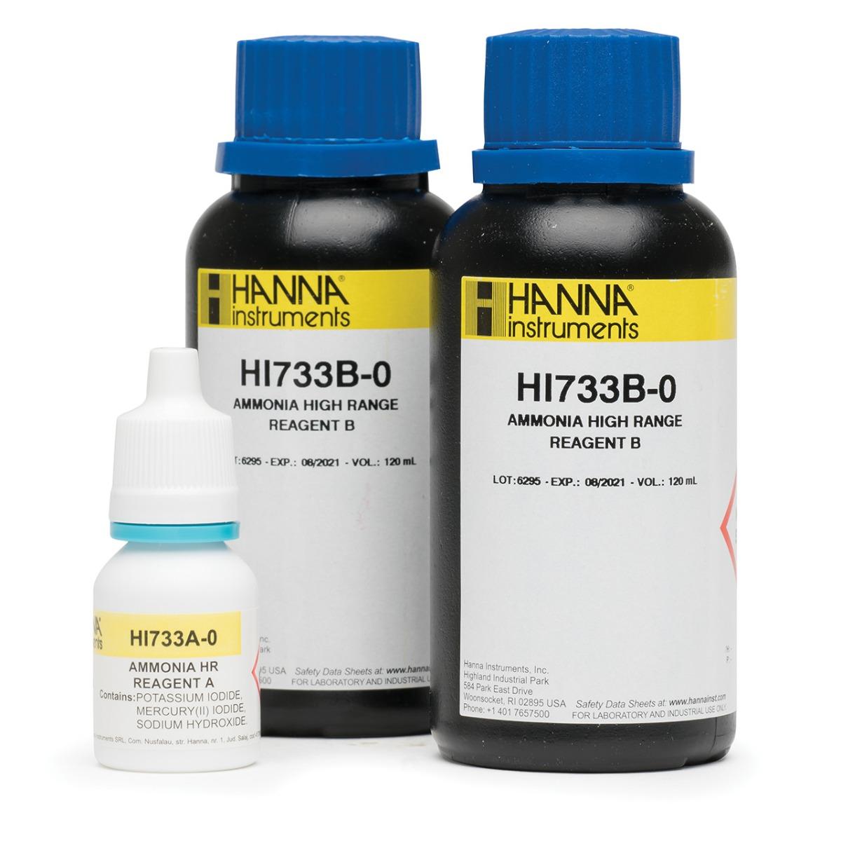 HI733-25 Ammonia High Range Checker® HC Reagents (25 tests)