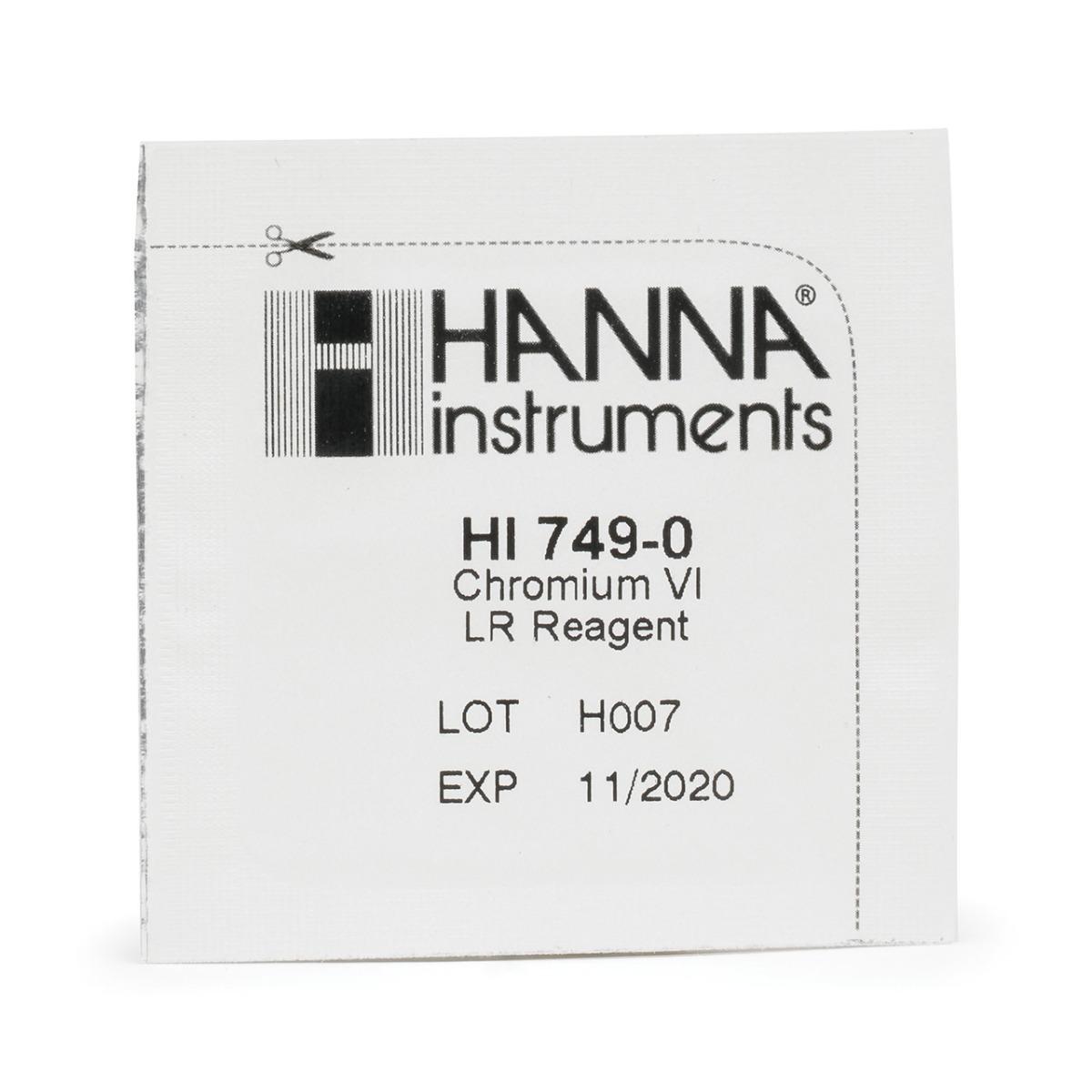 HI749-25 Chromium Low Range Checker Reagents