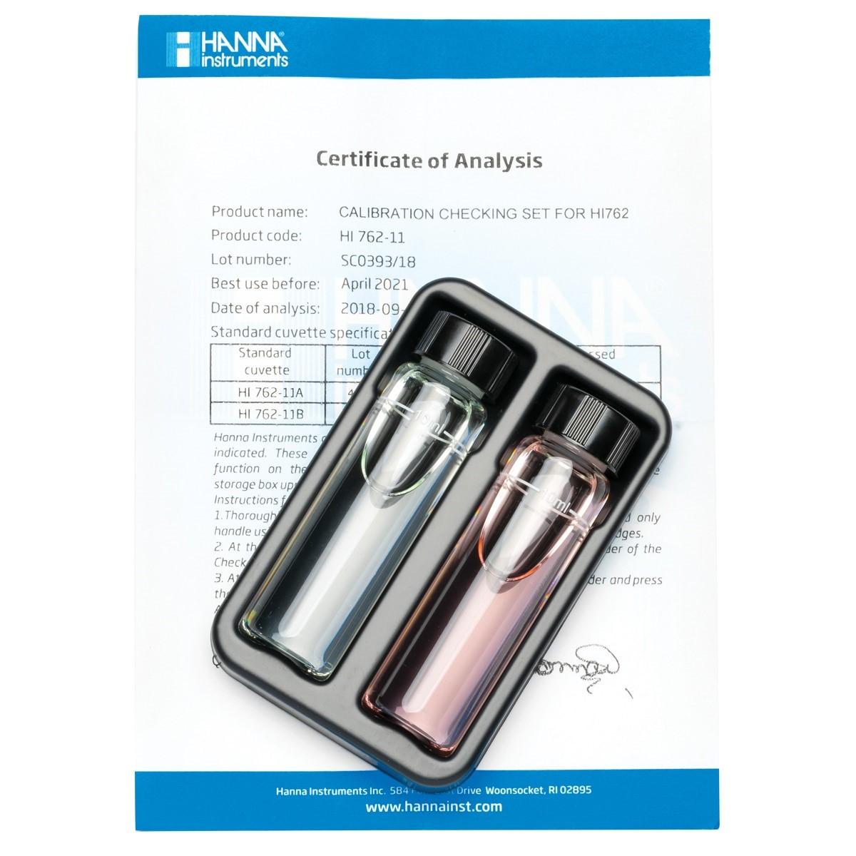 HI762-11 Free Chlorine Ultra Low Range Checker Calibration Set