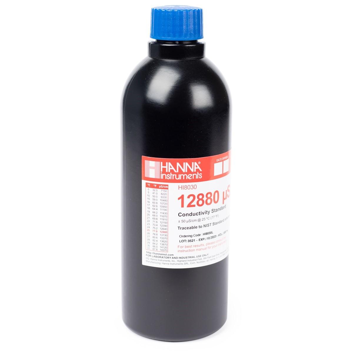 HI8030L 12880 µS/cm Conductivity Standard in FDA Bottle (500mL)