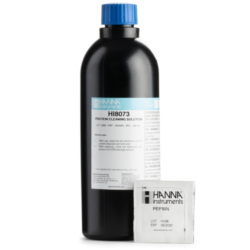 HI8073L Cleaning Solution for Proteins in FDA Bottle (500 mL)