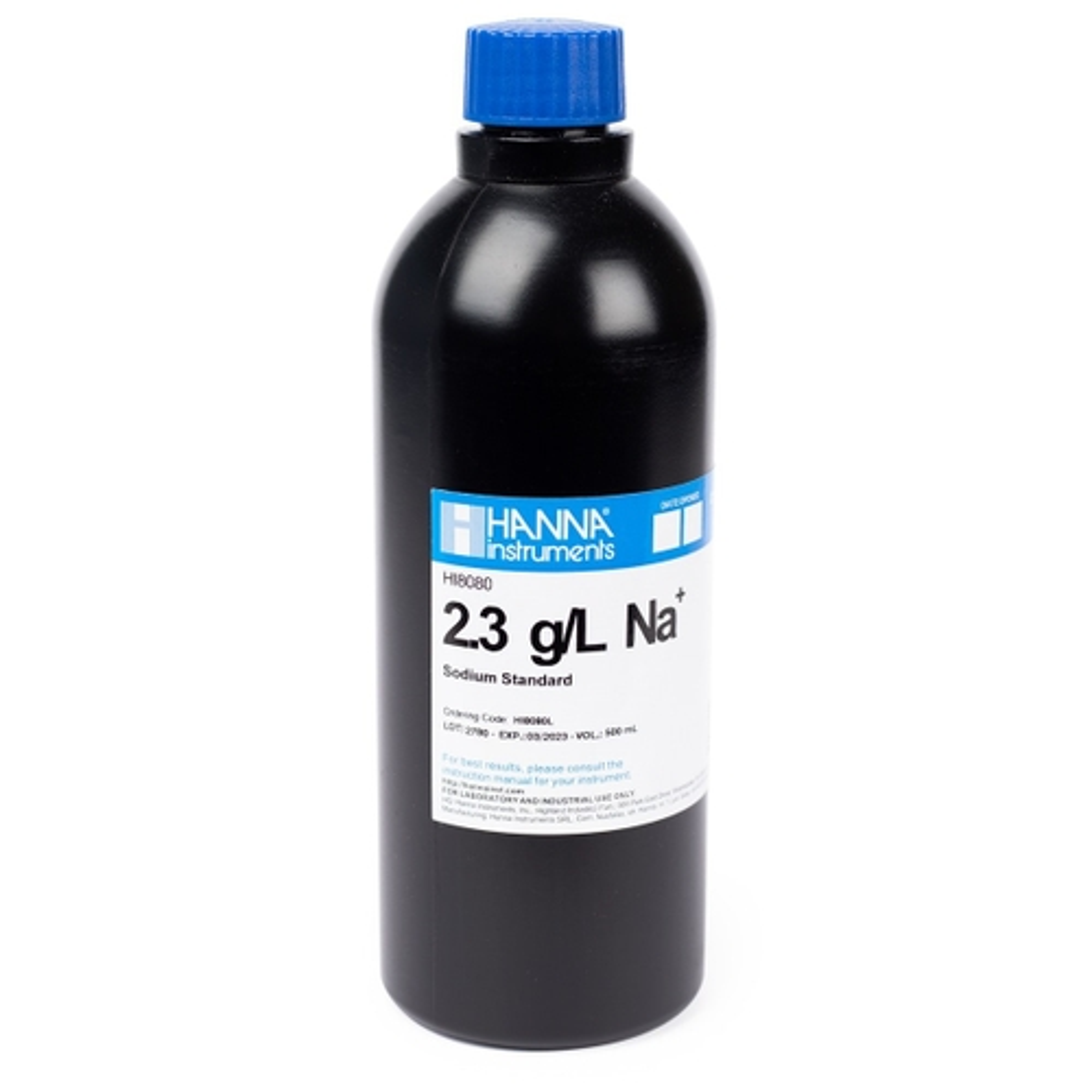 HI8080L Standard Solution at 2.3 g/L Na+ (500 mL) FDA bottle