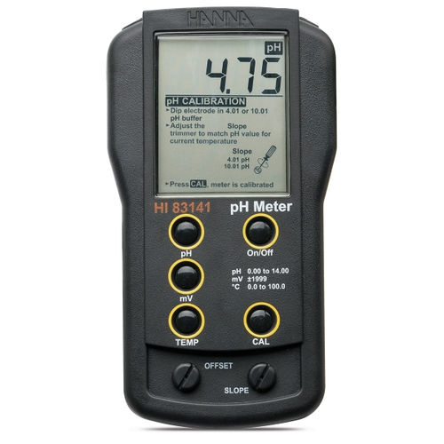HI83141 portable pH/mV meter