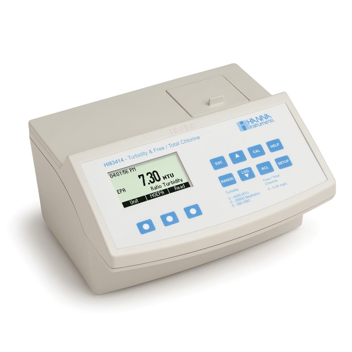 HI83414 Turbidity and Chlorine Benchtop Meter