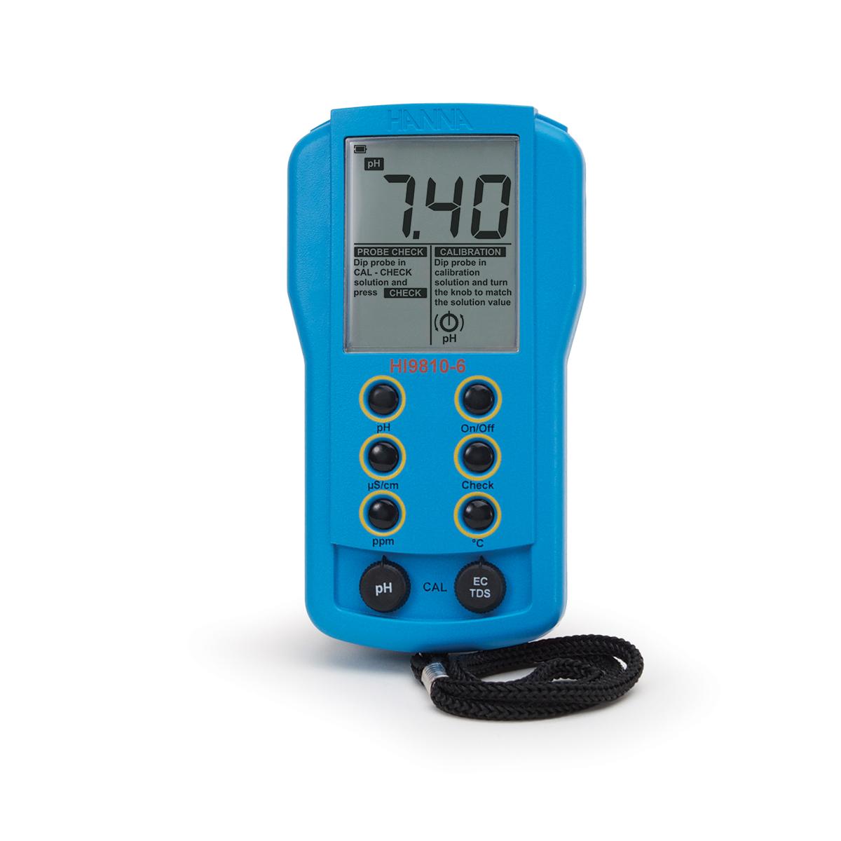 HI9810-6 Portable pH/EC/TDS Meter