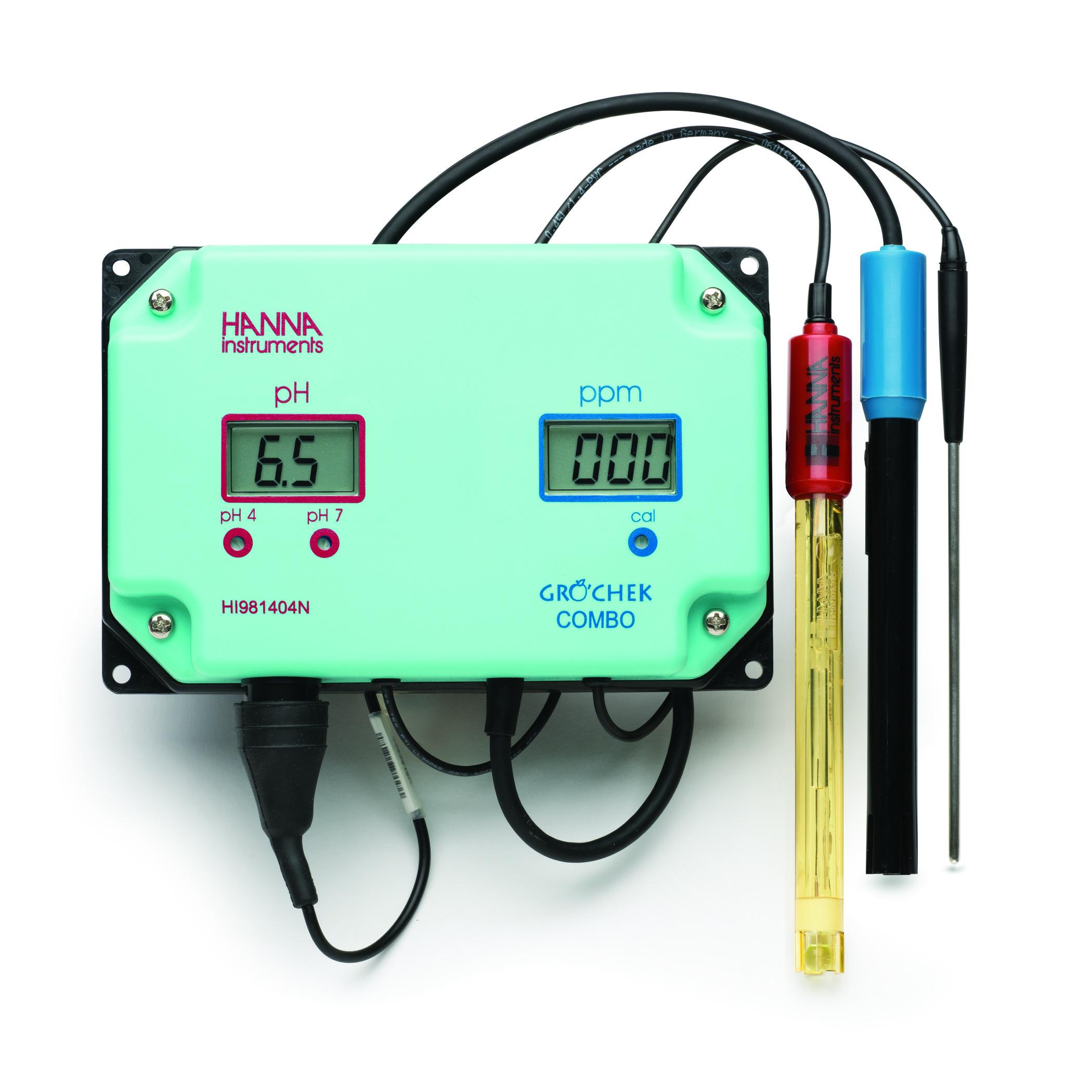 Grocheck® pH/EC Continuous Monitor  - HI981405N