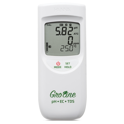Groline Hydroponic Waterproof Portable pH/EC/TDS/Temperature Meter - HI9814