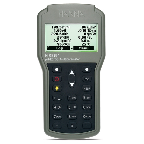 Multiparameter pH/ORP/EC/TDS/Salinity/DO/Pressure/ Temperature Waterproof Meter - HI98194