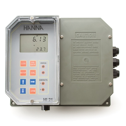 Wall Mounted pH Digital Controller with Dual Setpoint - HI21211