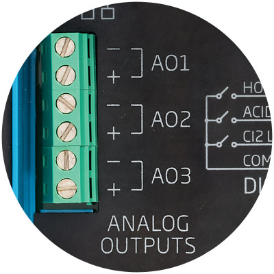 BL121 and BL123 analog outputs