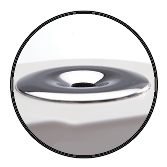 Sealed stainless steel well with high grade optical prism made of flint glass