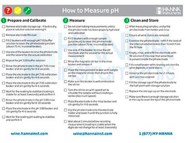 Measuring pH in Wine