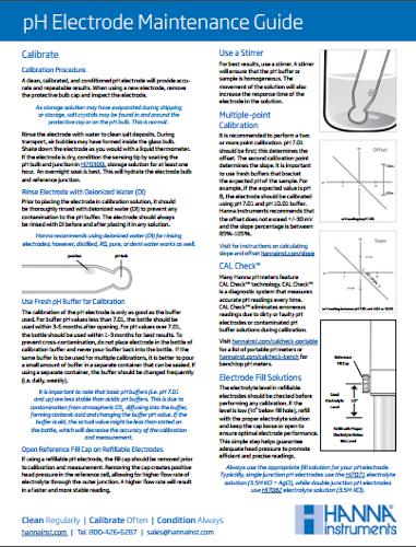 pH Electrode Maintenance Guide